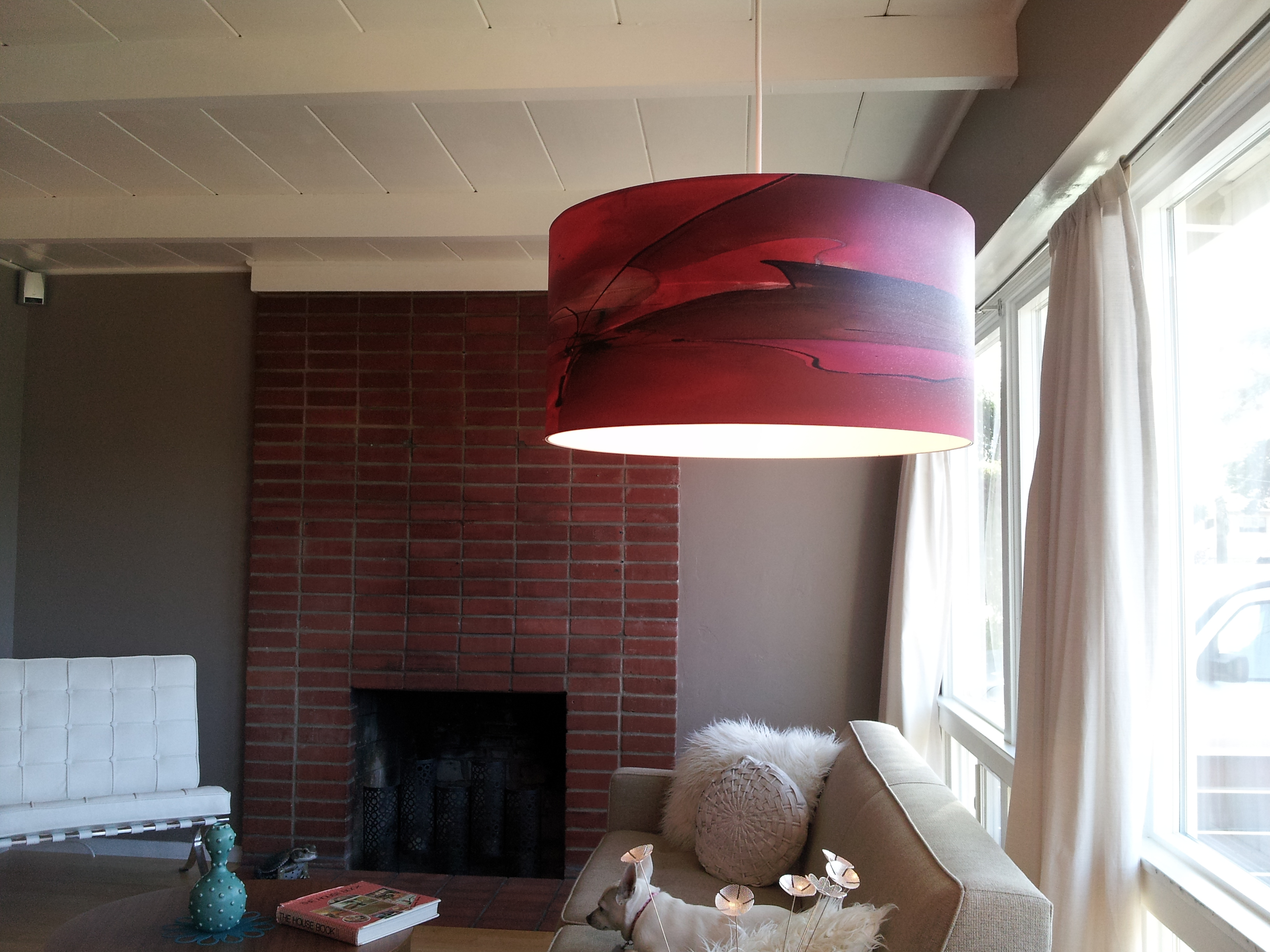 "Installation of single-shade ""Ginger"" pendant"