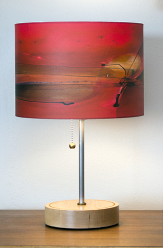"""Simple Stem"" lamp in Ash with 12"" ""Ginger"" shade"
